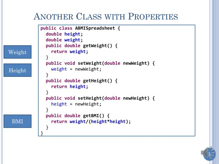 Another class with properties