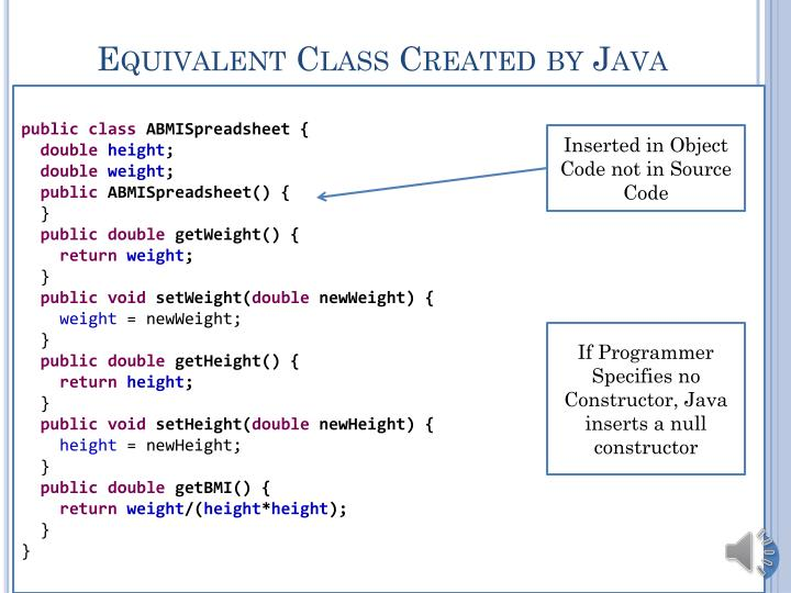 Equivalent Class Created by Java