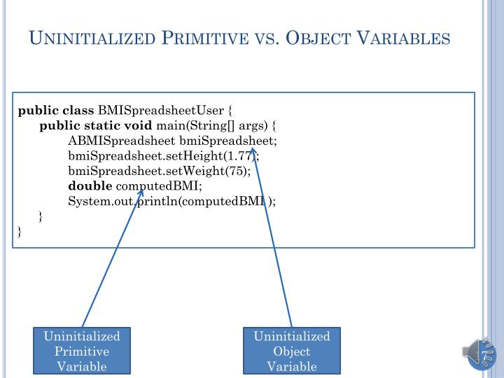 Uninitialized Primitive vs. Object Variables