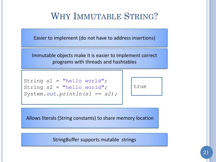 Why Immutable String?