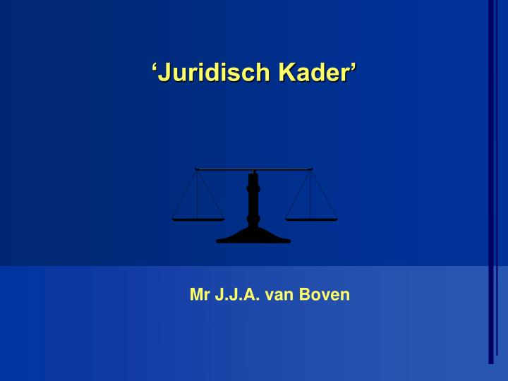 'Juridisch Kader'