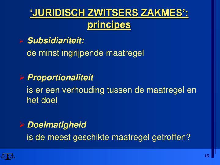 'JURIDISCH ZWITSERS ZAKMES':
