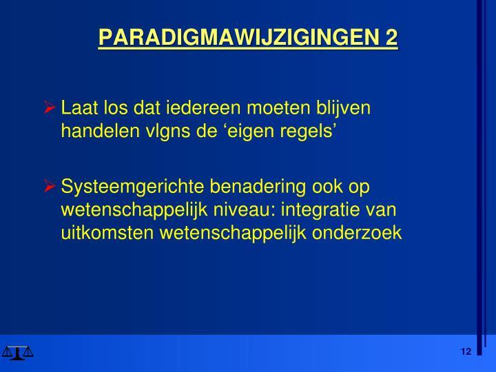 PARADIGMAWIJZIGINGEN 2