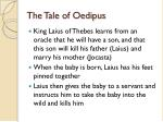 the tale of oedipus