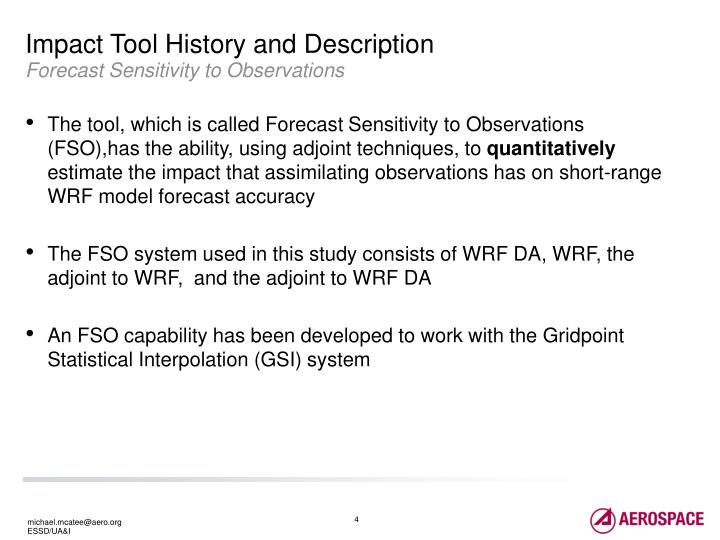 Impact Tool History and Description