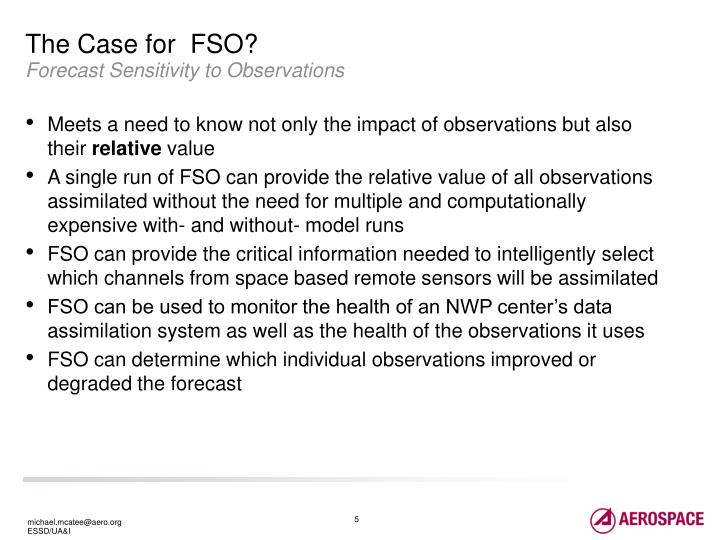 The Case for  FSO?