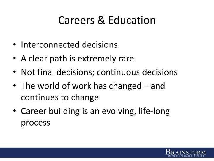 Careers & Education