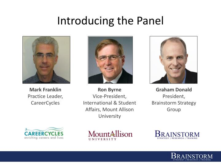 Introducing the Panel