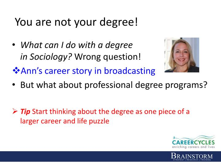 You are not your degree!