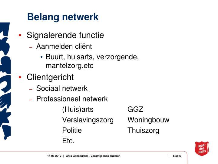 Belang netwerk