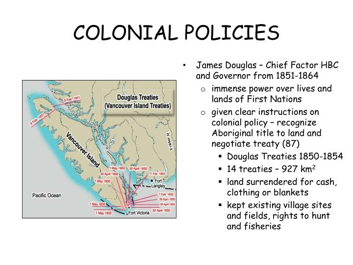 COLONIAL POLICIES