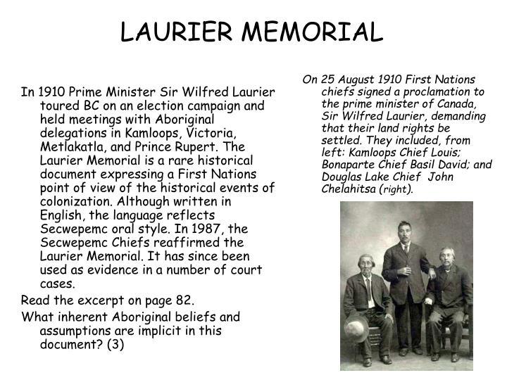 LAURIER MEMORIAL
