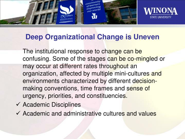Deep Organizational Change is Uneven