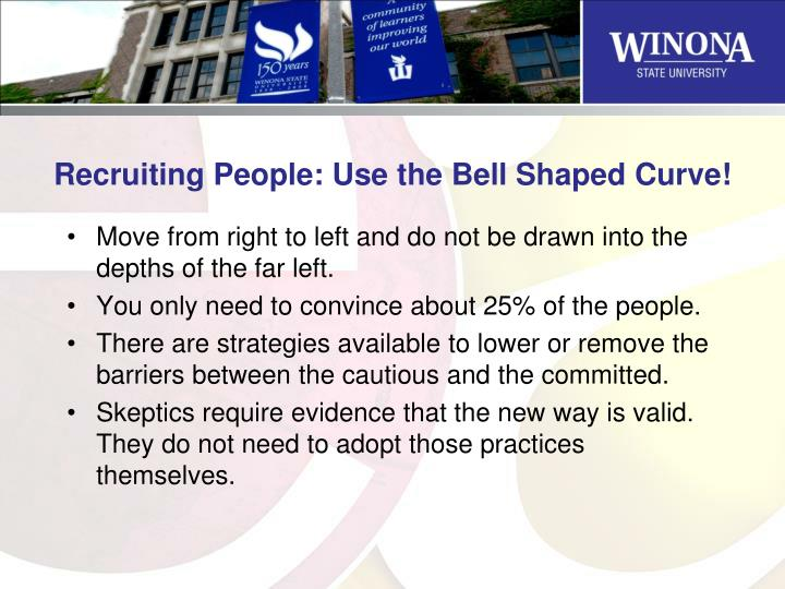 Recruiting People: Use the Bell Shaped Curve!