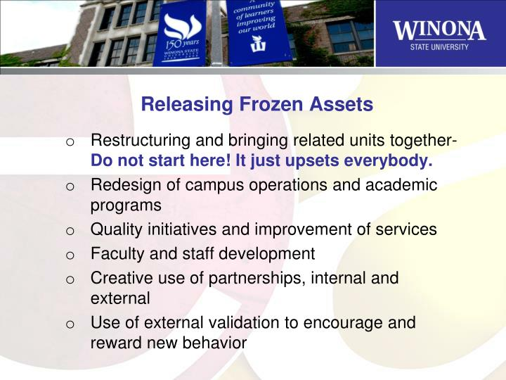 Releasing Frozen Assets