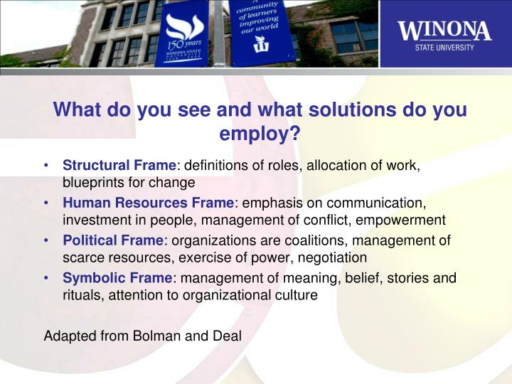 What do you see and what solutions do you employ