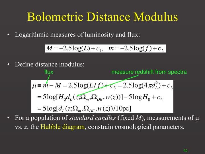 Bolometric Distance