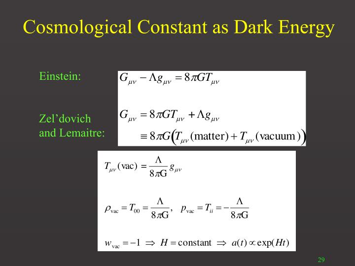 Cosmological Constant as Dark Energy