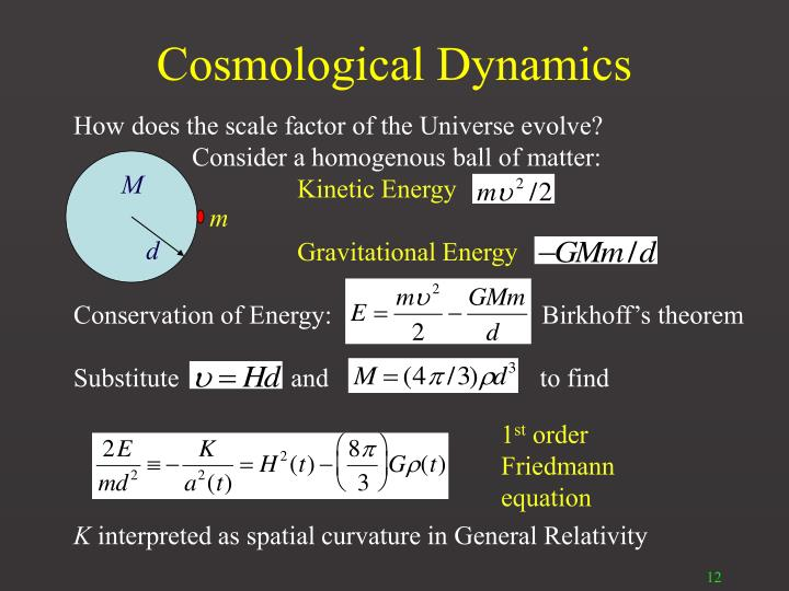 Cosmological Dynamics