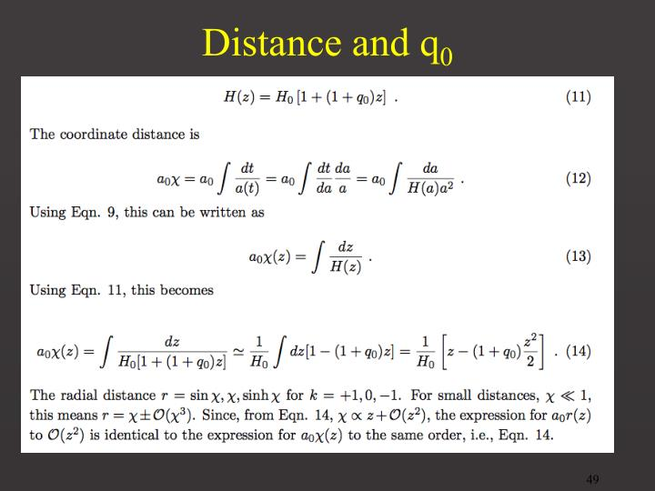 Distance and q