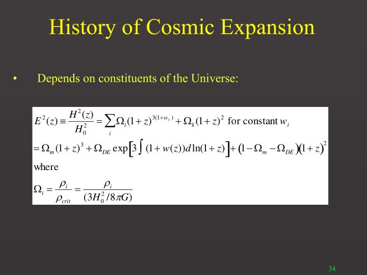 History of Cosmic Expansion