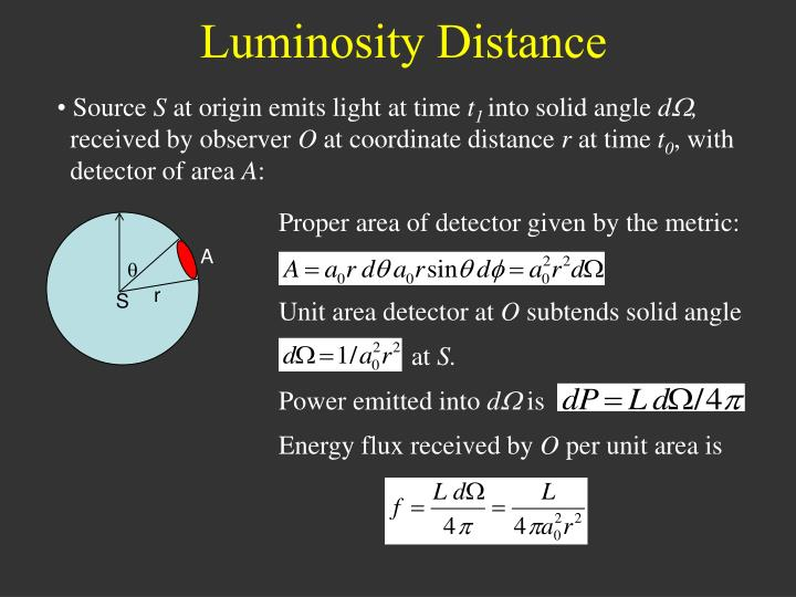Luminosity Distance
