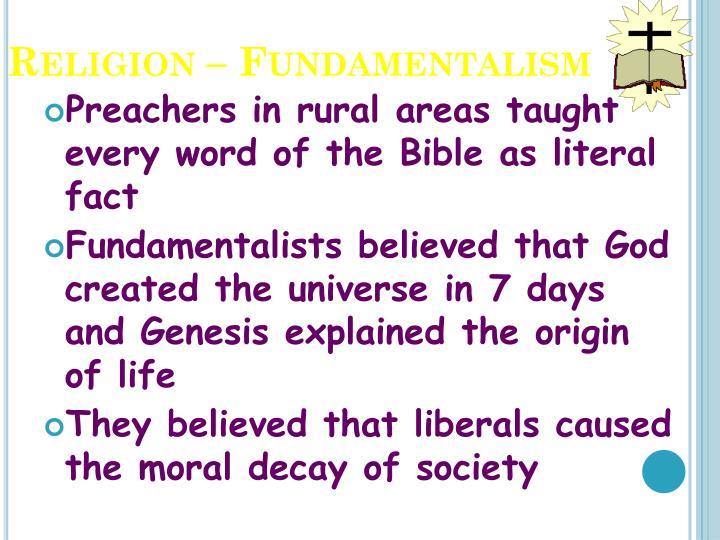 Religion – Fundamentalism