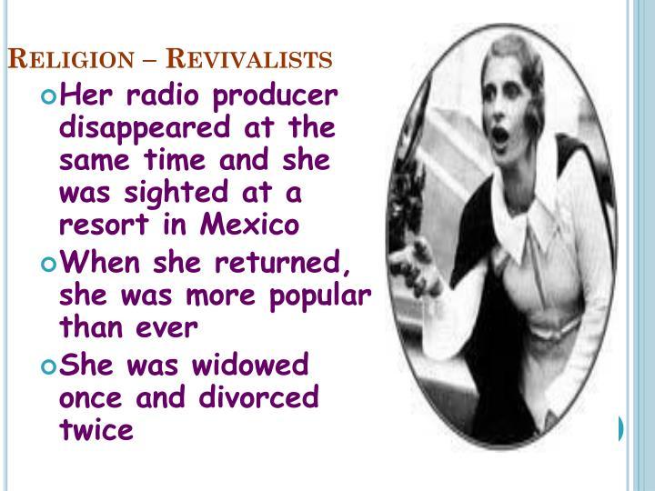 Religion – Revivalists