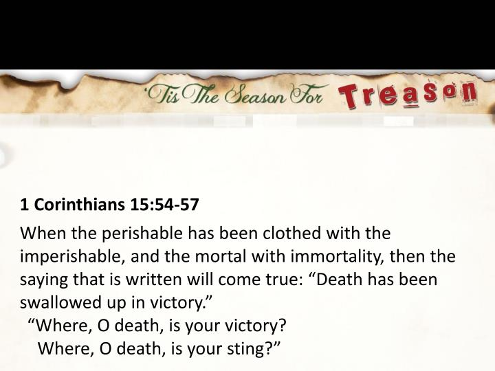1 Corinthians 15:54-57
