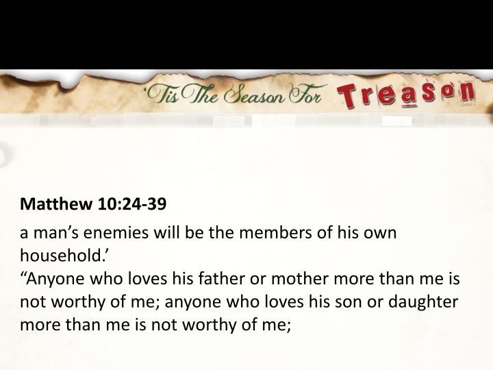 Matthew 10:24-39