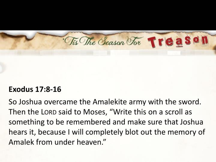 Exodus 17:8-16