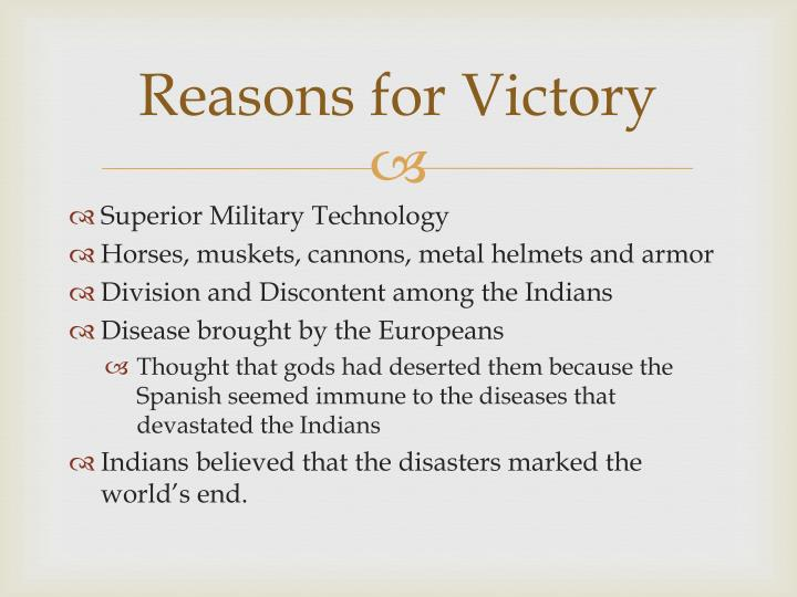 Reasons for Victory