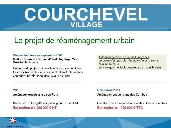Le projet de réaménagement urbain
