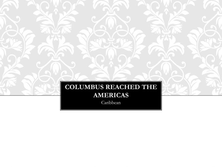 Columbus Reached the Americas