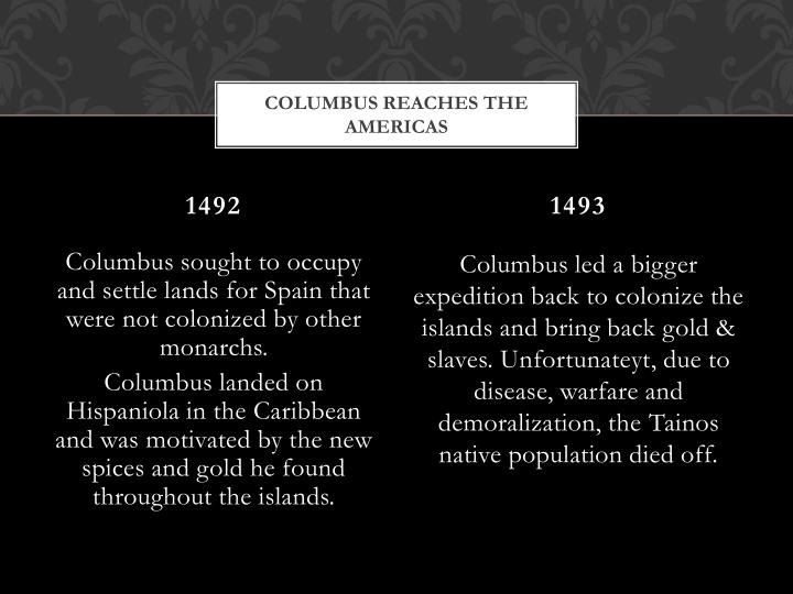 Columbus Reaches the Americas