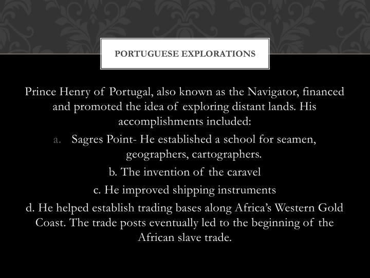 Portuguese Explorations