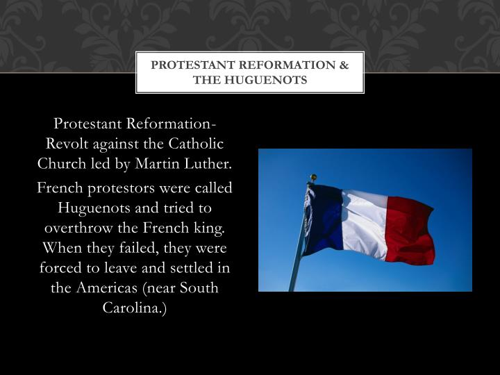 Protestant Reformation & the