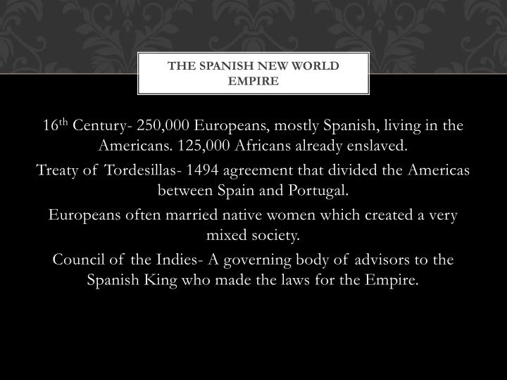 The Spanish New World Empire