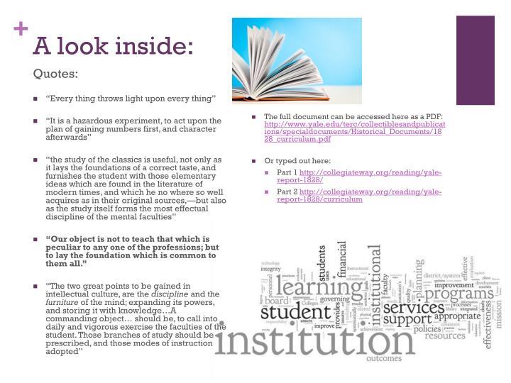 A look inside:
