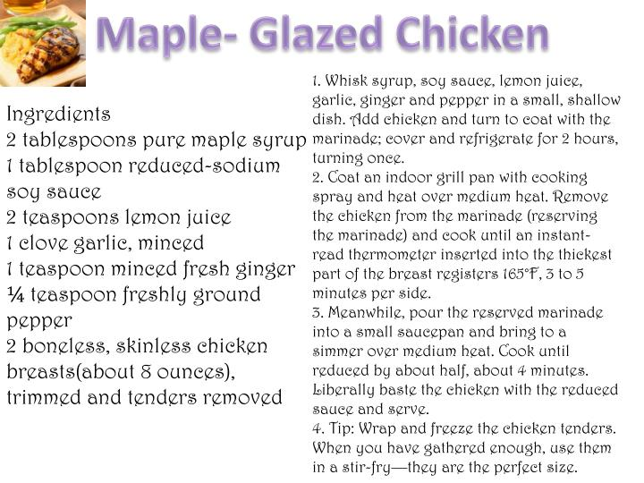 Maple- Glazed Chicken