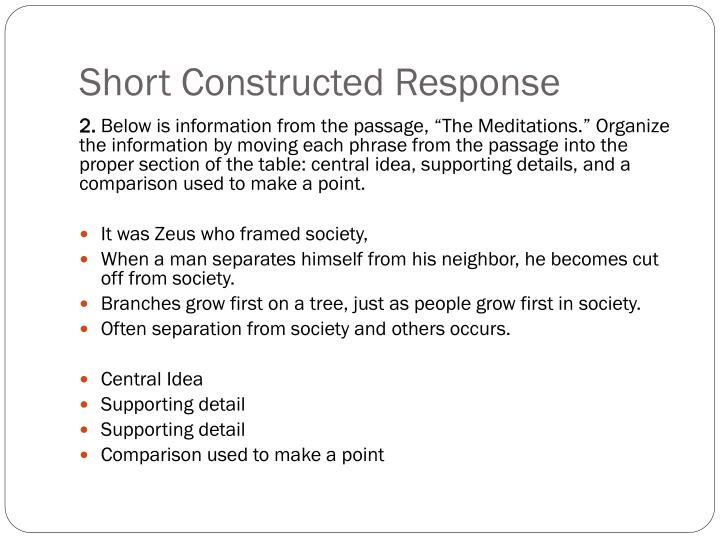Short Constructed Response