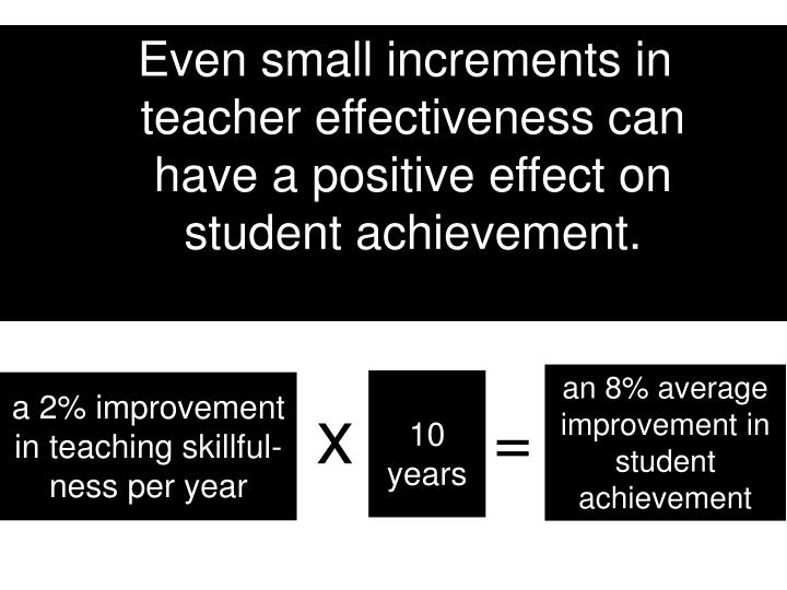 Even small increments in teacher effectiveness can