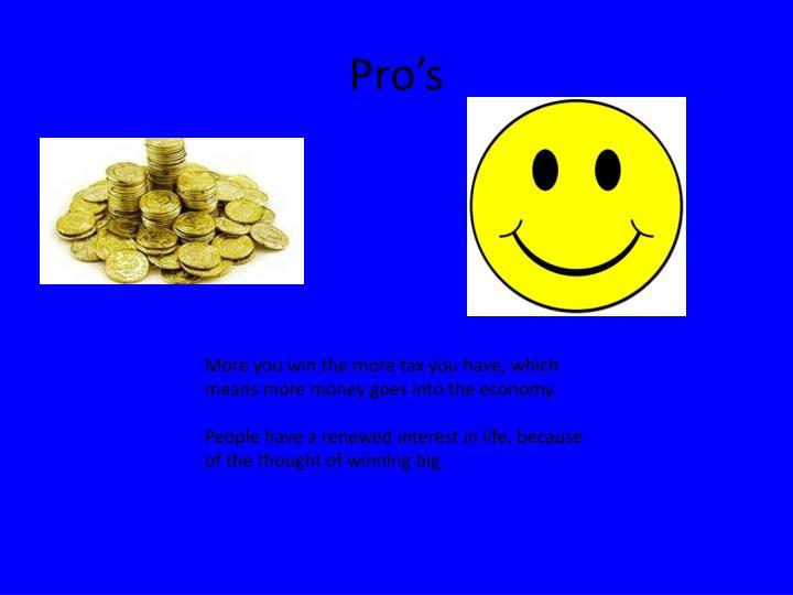 Pro's