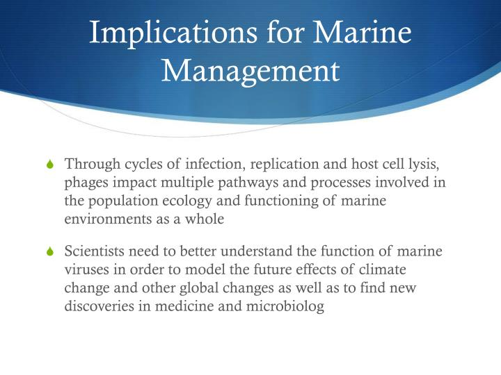 Implications for Marine Management