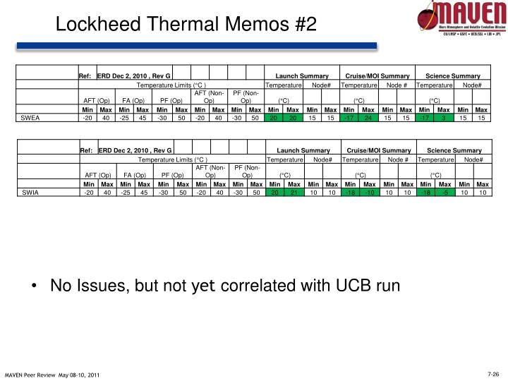 Lockheed Thermal Memos #2