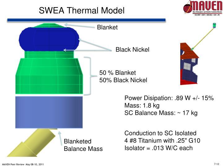 SWEA Thermal Model