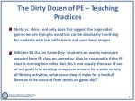 the dirty dozen of pe teaching practices2
