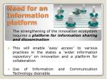 need for an information platform