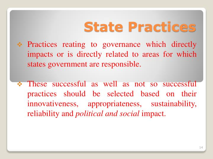State Practices