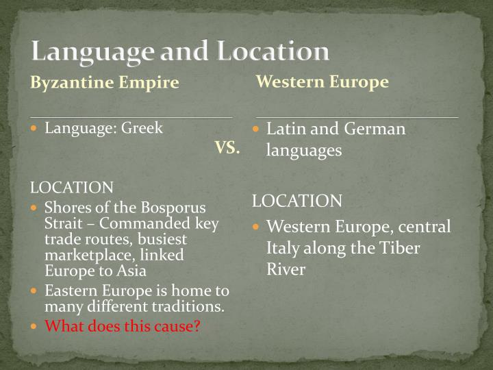 Language and Location